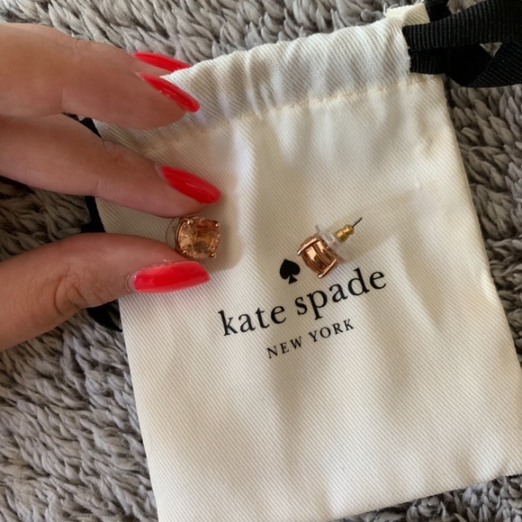 kate spade Jewelry - kate space rose gold studs